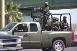 Mexican security forces are battlingdrug cartels across the country