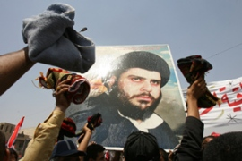 Al-Sadr called for weekly protests against the US-Iraqi government agreement [AFP]