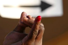 Human Rights Watch says people without an inked finger were attacked [EPA]