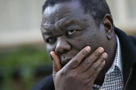 "Tsvangirai says Mugabe's inaugurationwas ""meaningless"" [AFP]"