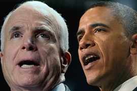 McCain and Obama set their US foreign policy agenda four months ahead of elections [AFP]