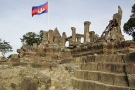 Thailand and Cambodia both claim land around the Preah Vihear temple [EPA]