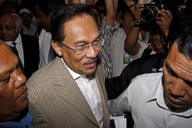 Anwar says the charges against him are part of a political conspiracy [EPA]