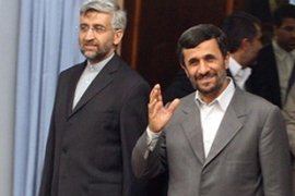 Chief nuclear negotiator Saeed Jalili, left, is expected to meet Solana later this month [AFP]