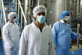 Iran will negotiate with world powers but will not suspend uranium enrichment work [EPA]