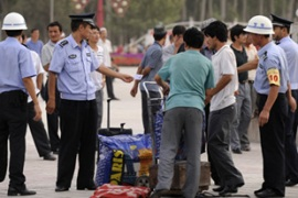 The attack happened despite increased security in Xinjiang [AFP]