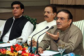 Zardari said he would announce whether to accept the nomination within 24 hours [AFP]