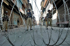 In India's Kashmir valley poilce enforced a curfew to stop protests by separatists [AFP]