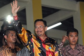 Anwar has said he has enough support to take power in the coming days [AFP]
