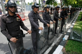 Thai police have been in a standoff with protesters for nearly a week [Reuters]