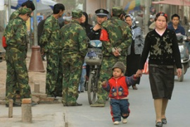 "China has warned repeatedly of a major ""terrorist threat"" from Xinjiang [AFP]"