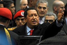 Chavez said Russian warships or warplanes were welcome to visit his country [AFP]