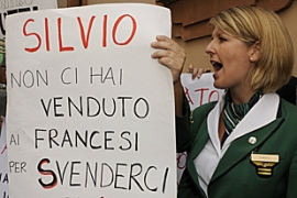 The withdrawal of the CAI consortium bid is a blow to Prime Minister Berlusconi [AFP]