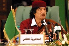 Rice is expected to push Gaddafi on a recently signed compensation package [EPA]
