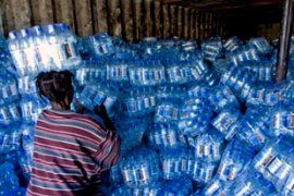 Aid workers have delivered high-energy biscuits and water to storm victims [EPA]