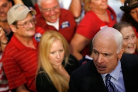 "McCain says he has his Democratic rivals ""just where we want them"" [Reuters]"