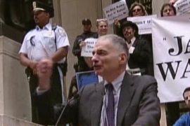 Video: Politics invades Wall Street