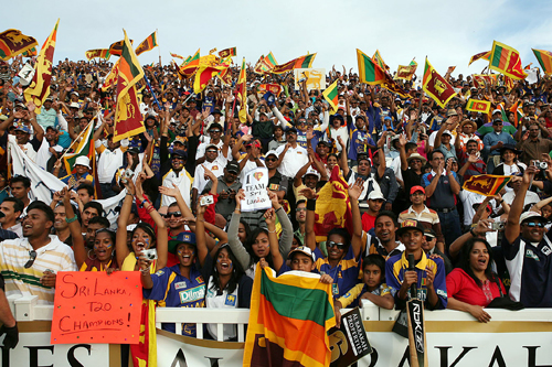 Sri Lankan supporters cheer victory over Pakistan in the Twenty20 Canada Cup final [AFP]