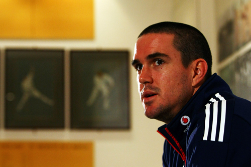 England captain Kevin Pietersen at Lord's before travelling to play in the Stanford Super Series [GALLO/GETTY]