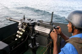 The military has set up a naval blockade off thecoast to prevent LTTE movement [EPA]