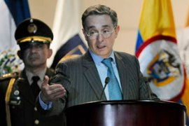 The Farc has been weakened by a US-backed security plan implemented by Alvaro Uribe [EPA]