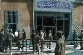 The Taliban said three fighters attacked guards at he entrance and then stormed the building