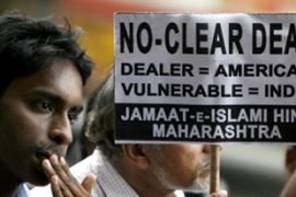 The nuclear deal caused controversy andprotests in India [AFP]