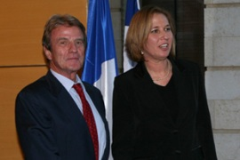 Livni, right,feels Israel should strive towards a full peace accord [AFP]
