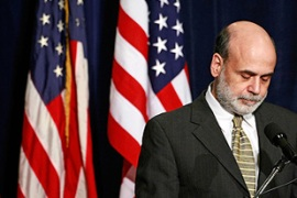 "Bernanke has said the US recession should end in 2009, ""barring crises"" [GALLO/GETTY]"