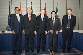 The G5 finance ministers met in Sao Paolo on Friday to formulate a common strategy [AFP]