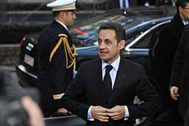 Sarkozy has urged EU leaders to bury their differences over a climate change package [AFP]