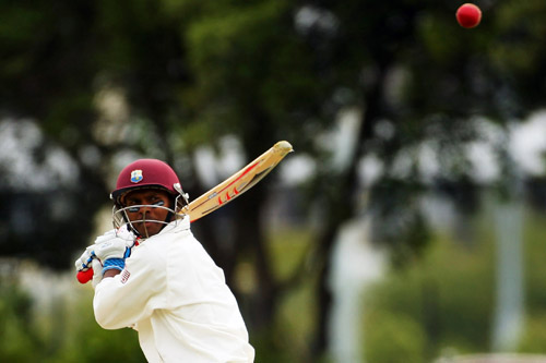 Shivnarine Chanderpaul of the West Indies prepares to smash one against New Zealand [GALLO/GETTY]