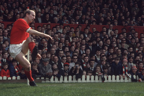 1966 winner Bobby Charlton of Manchester Utd, he still holds goalscoring records for the club and England [GALLO/GETTY]