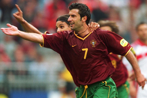 Portuguese Luis Figo won in 2000 and currently plays for Italian side Inter [GALLO/GETTY]