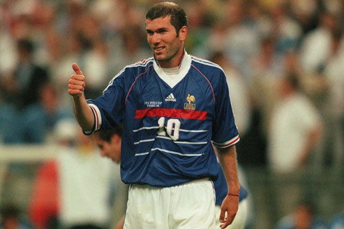 1998 French winner Zinedine Zidane, also known as 'Zizou' won the 1998 World Cup and Euro 2000 [GALLO/GETTY]