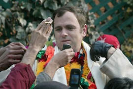 Omar Abdullah, 38, will be the state's youngest chief minister [AFP]