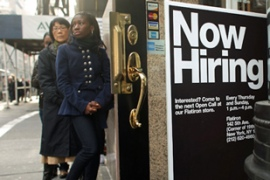 The unemployment rate has hit its highest ratesince 1993 [AFP]