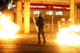 Greece has seen days of protests and riots across the country [AFP]