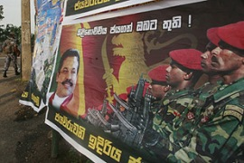 Sri Lankan troops captured the separatist stronghold of Kilinochchi last week [Reuters]