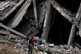 Palestinians say 25,000 buildings were damaged or destroyed in Israel's assault on Gaza [EPA]