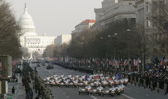 Tight security was put in place for an inauguration ceremony that cost an estimated $170m [AFP]