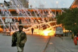 UN pictures show what appears to white phosphorus 'wedges' raining down on one of its compounds in Gaza