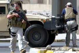 Blackwater was criticised for its alleged role in killing 17 Iraqi civilians in Baghdad 2007 [AFP]