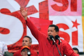 "Hugo Chavez told supporters Venezuela wouldbecome a ""world power"" [AFP]"