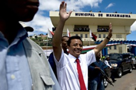 Madagascar's president has vowed to stay on until the end of his term in 2011 [AFP]