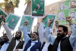 Supporters of Nawaz Sharif, Pakistan's former prime minister, were among those detained [AFP]