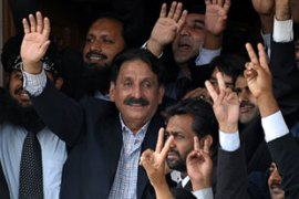 Chaudhry was sacked as chief justice by Pervez Musharraf, the former president, in 2007 [AFP]