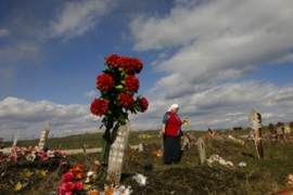 Mass graves, including one containing more than 800 bodies, have previously been found in Serbia [AFP]