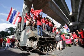 Some reports said that at least one tank was seized by anti-government protesters [Reuters]