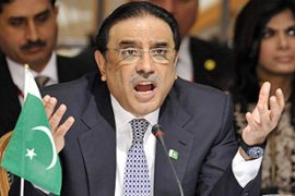 The Supreme Court could challenge Zardari's eligibility as president [AFP]